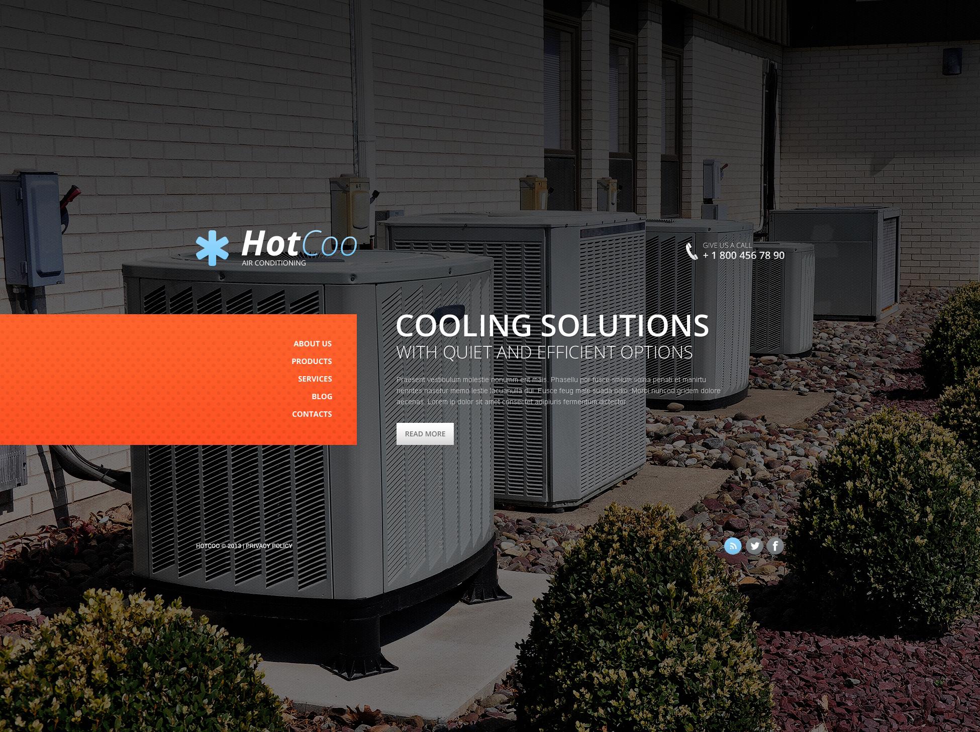 Bootstrap Légkondíciónálás témakörű Weboldal sablon 46184