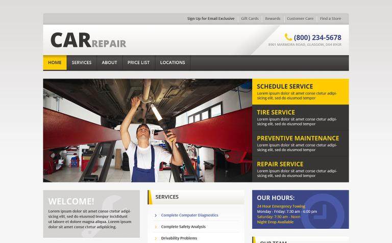 Car Repair Responsive Website Template 46162