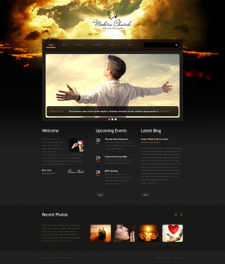 Christian Responsive Website Template New Screenshots BIG