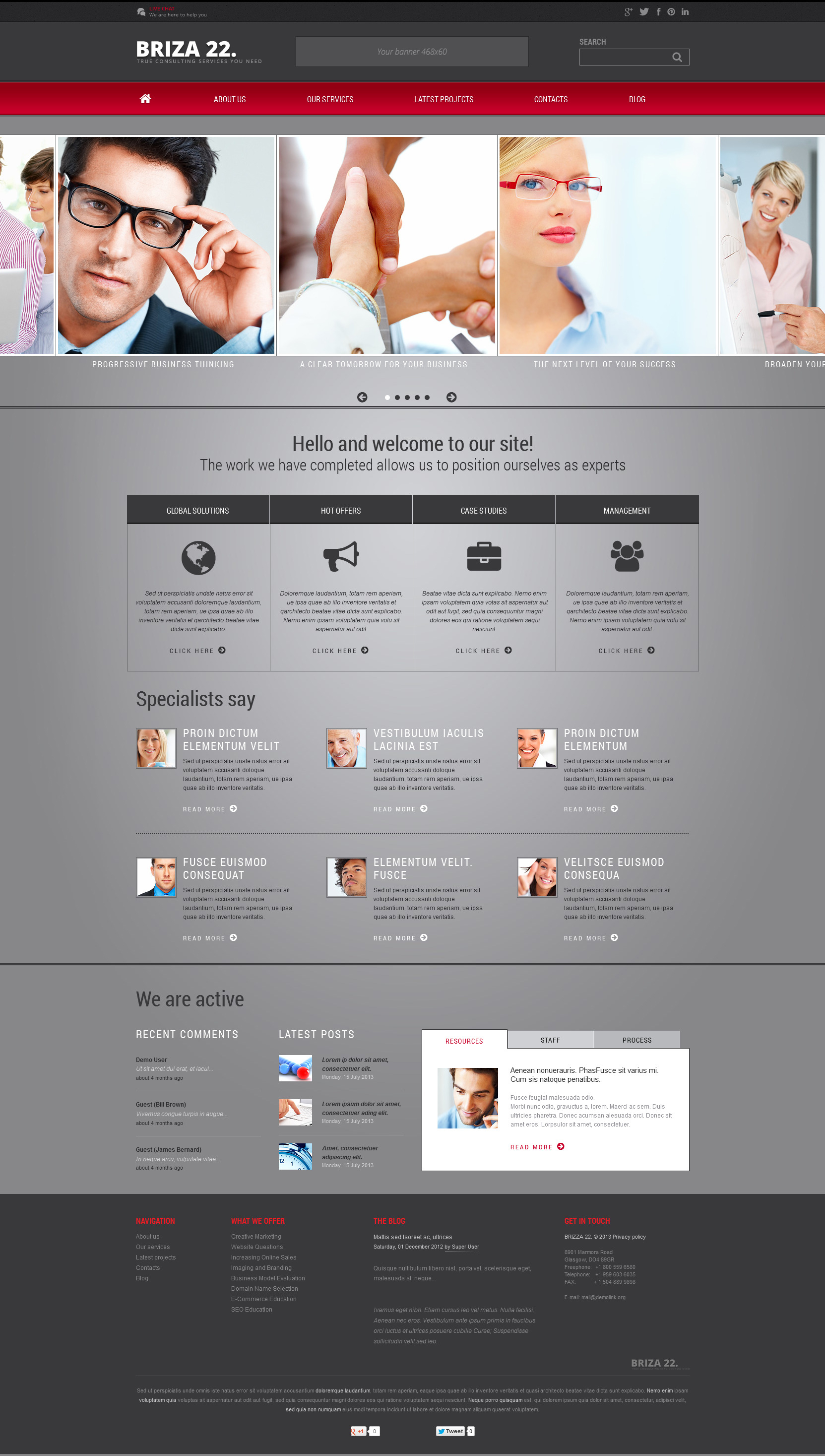 Joomla Consulting Templates