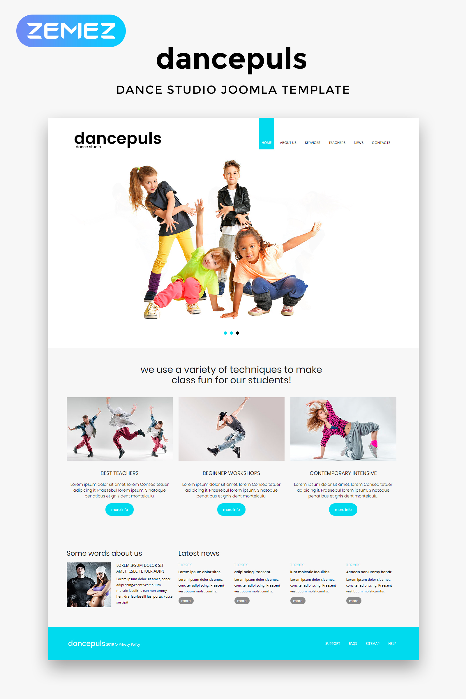 Dancepuls - Dance Studio Responsive Clean №46170
