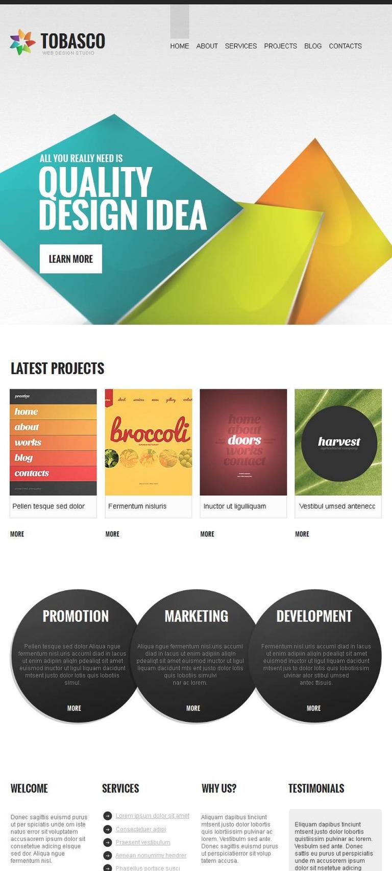 Design Studio Facebook HTML CMS Template New Screenshots BIG