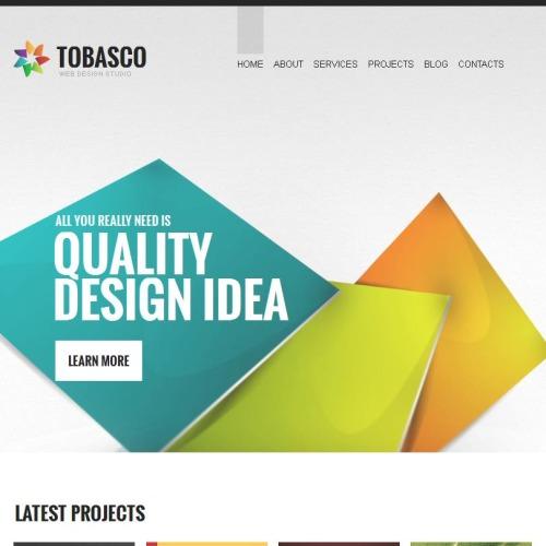 Tobasco - Facebook HTML CMS Template