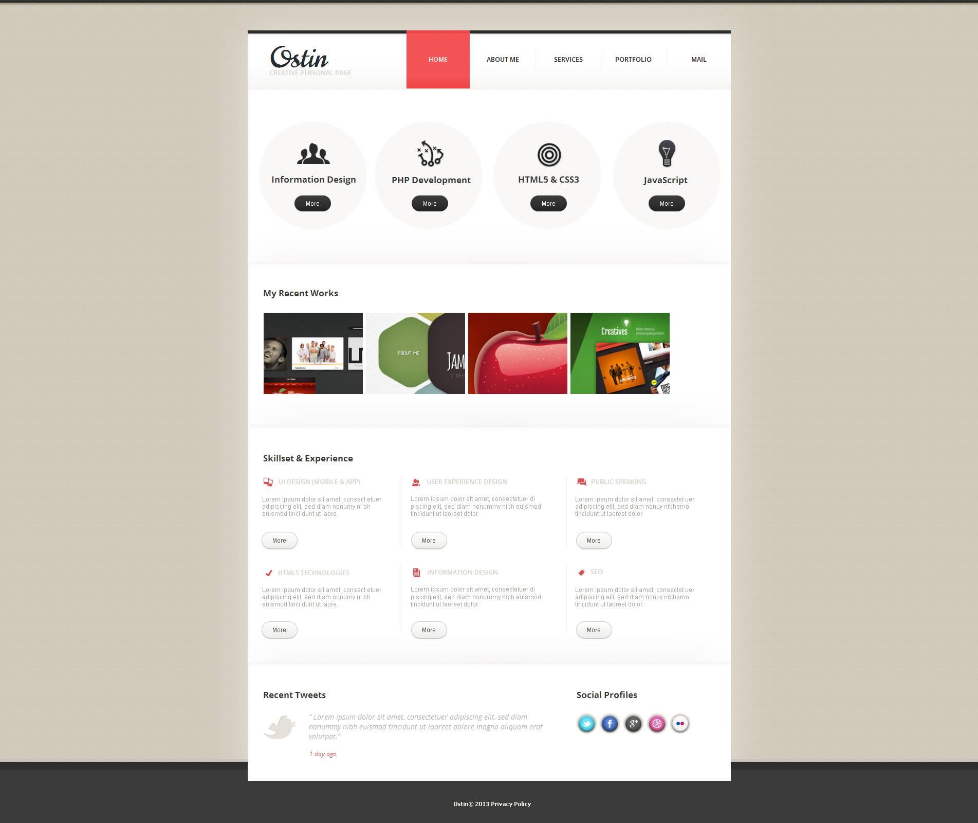 Designer Portfolio Moto CMS HTML Template