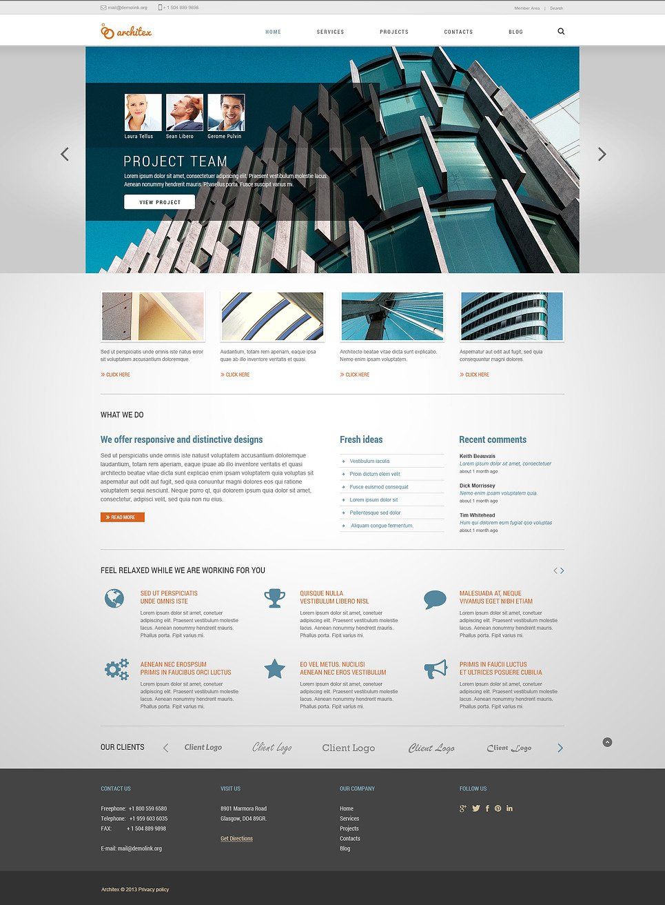Drafting Responsive Joomla Template New Screenshots BIG