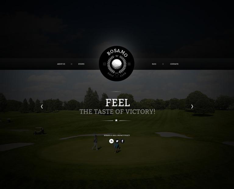 Golf Website Template New Screenshots BIG