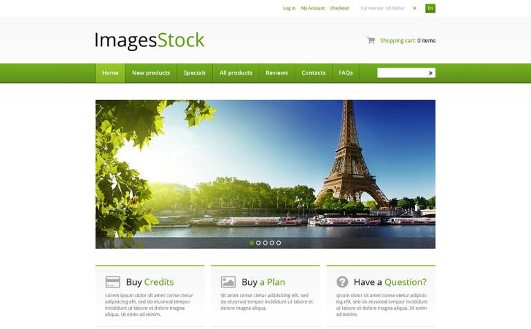 Image Stock ZenCart Template