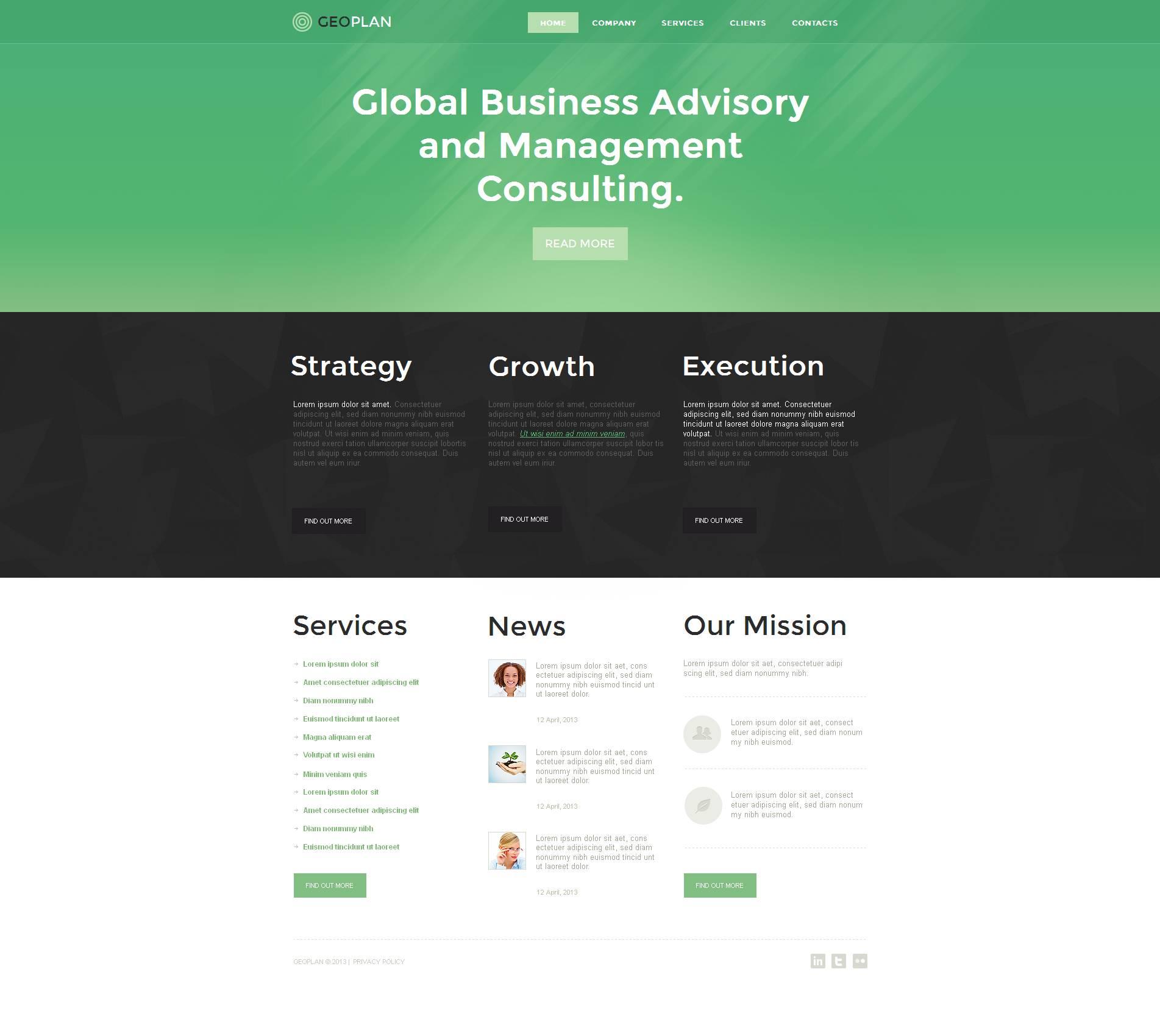 Management Company Moto CMS HTML Template