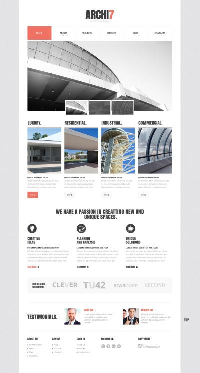 Modèle Web adaptatif  pour site d'architecture