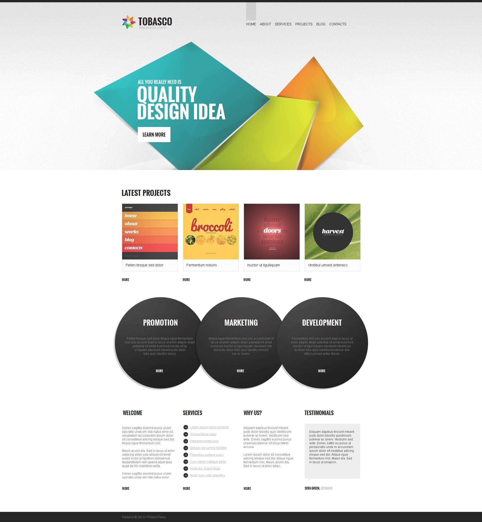 Moto CMS HTML Vorlage für Web Design #46105