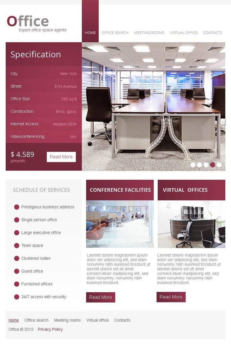 Office Facebook HTML CMS Template New Screenshots BIG