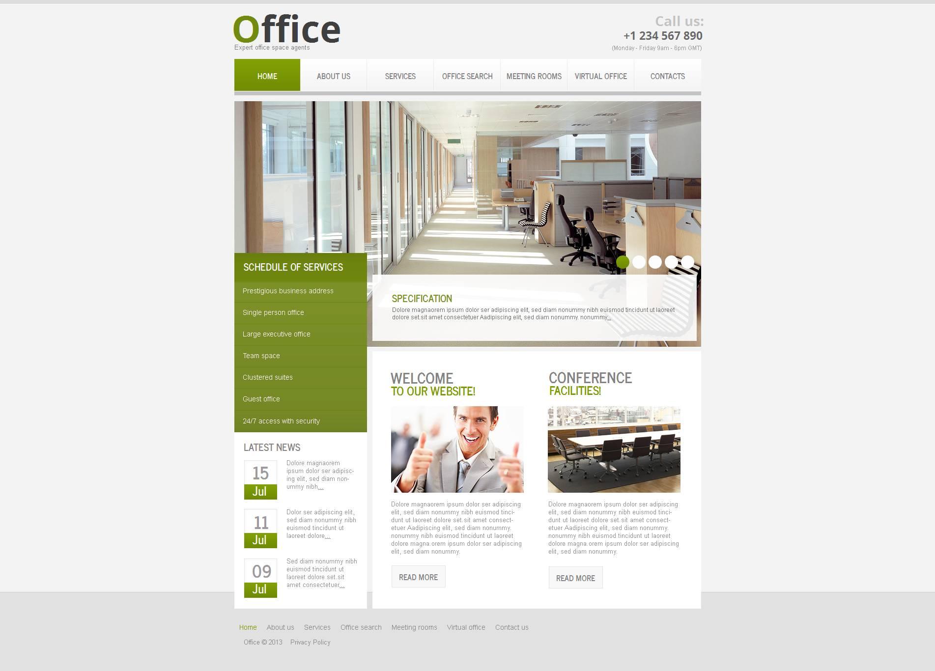 Office Moto CMS HTML Template