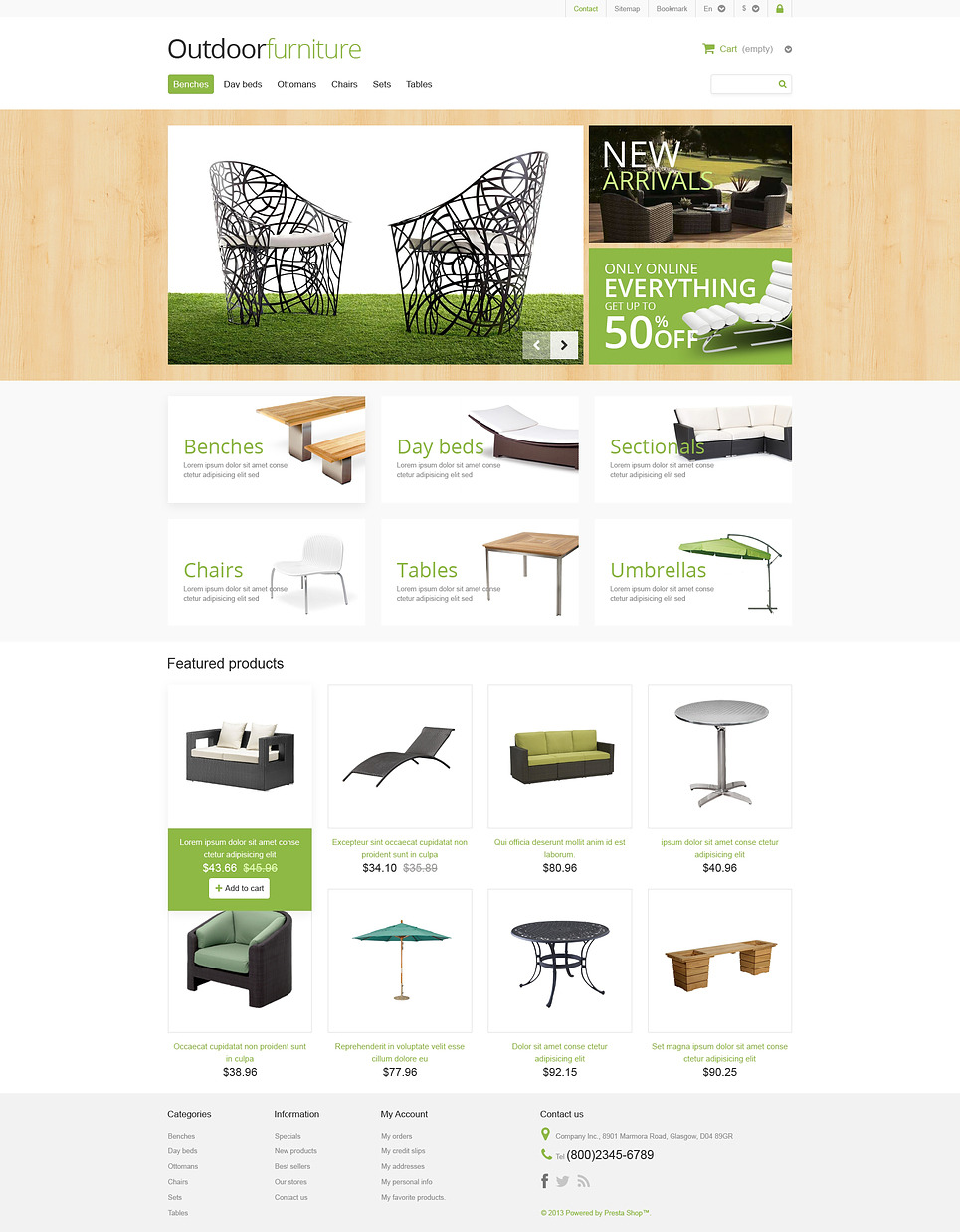 Outdoor Furniture Store PrestaShop Theme New Screenshots BIG
