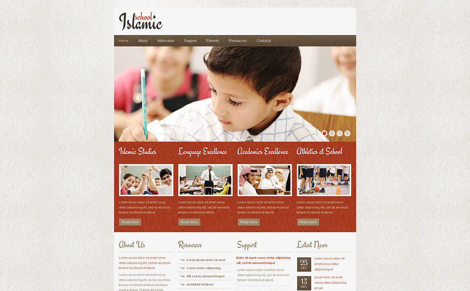 Plantilla Moto CMS HTML #46111 para Sitio de Escuela religiosa New Screenshots BIG