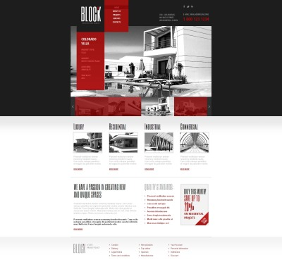 Plantilla Moto CMS HTML #46110 para Sitio de  para Sitio de Arquitectura
