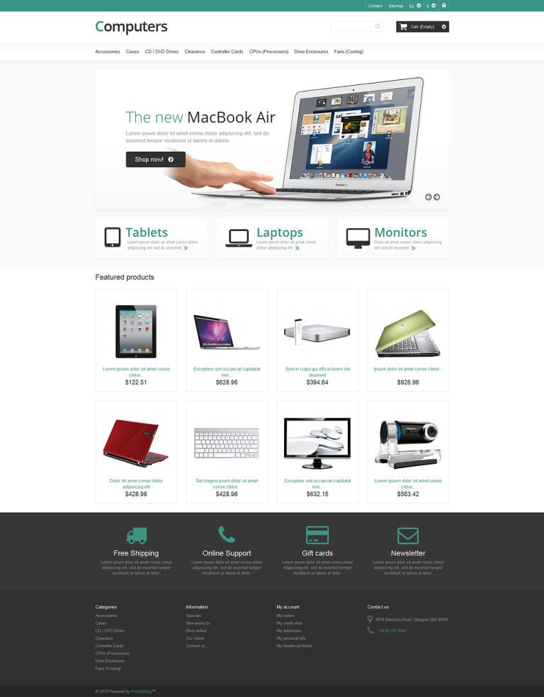 Responsive Computers Store PrestaShop Theme New Screenshots BIG