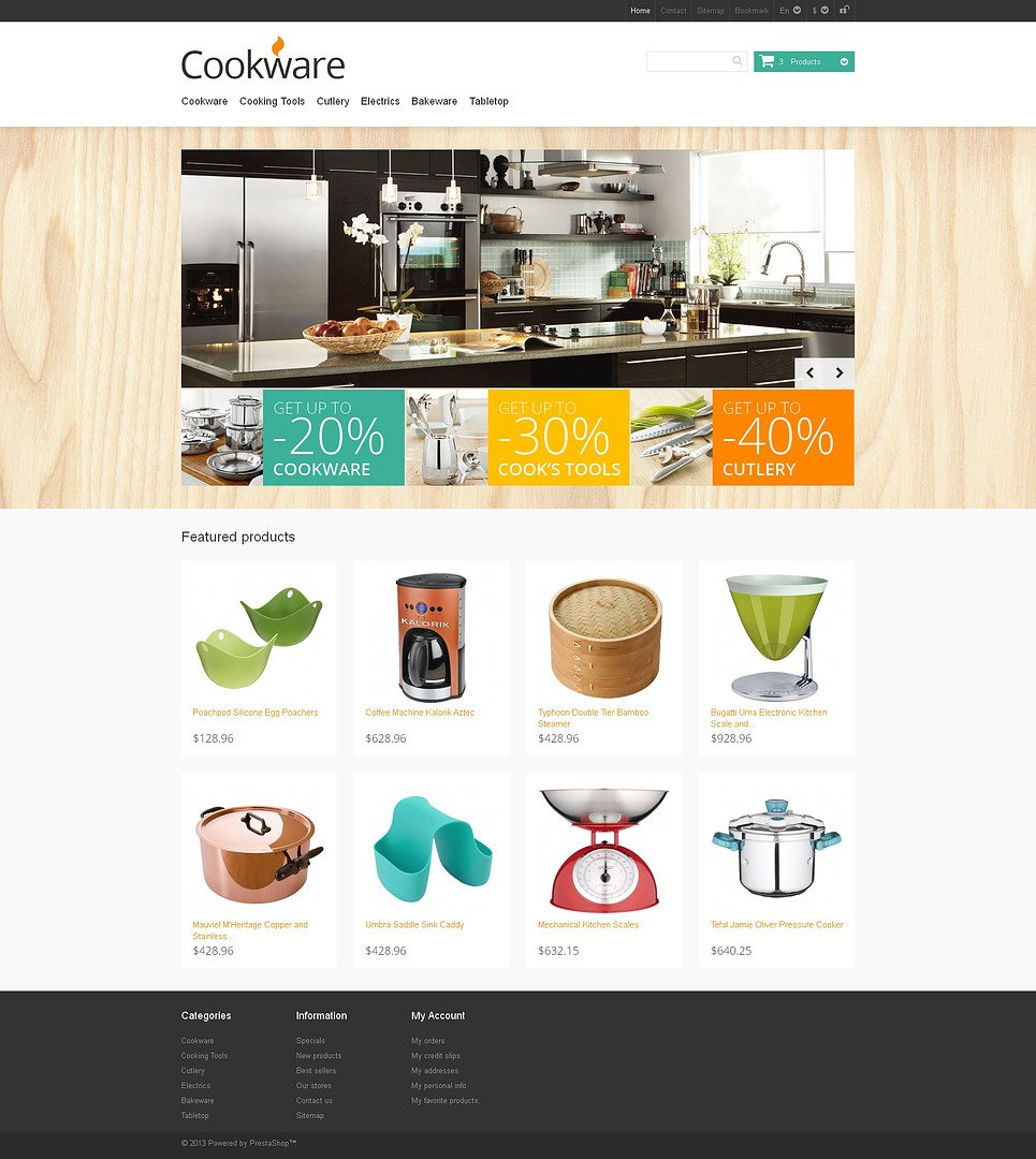 Responsive Cookware Store PrestaShop Theme New Screenshots BIG