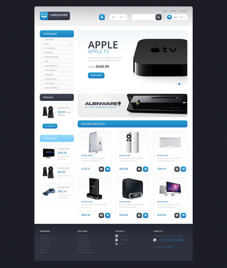 Responsive Hardware Store PrestaShop Theme New Screenshots BIG
