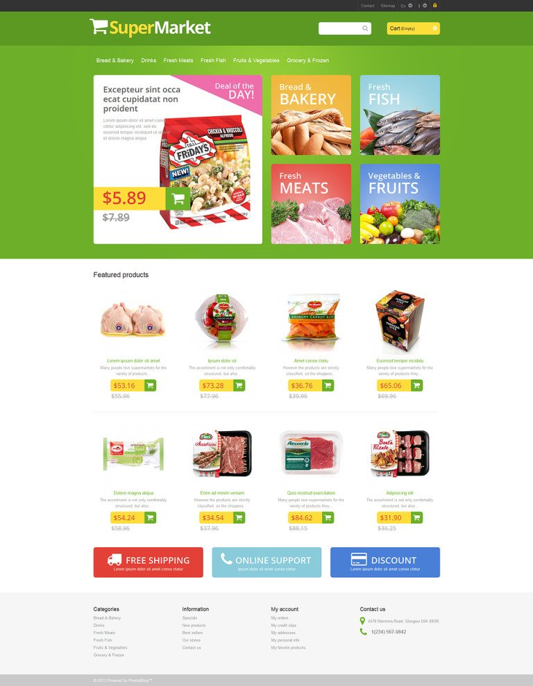 Responsive Supermarket PrestaShop Theme New Screenshots BIG