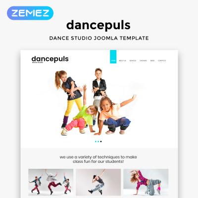 Responsywny szablon Joomla #46170 na temat: szkoła tańca