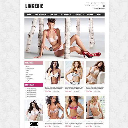 Lingerie  - HTML5 ZenCart Lingerie Store Template