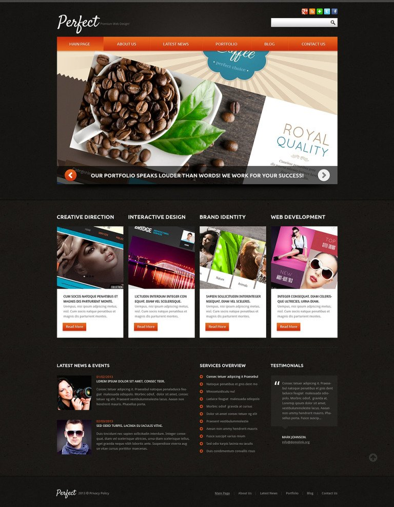 Web Design Responsive Joomla Template New Screenshots BIG