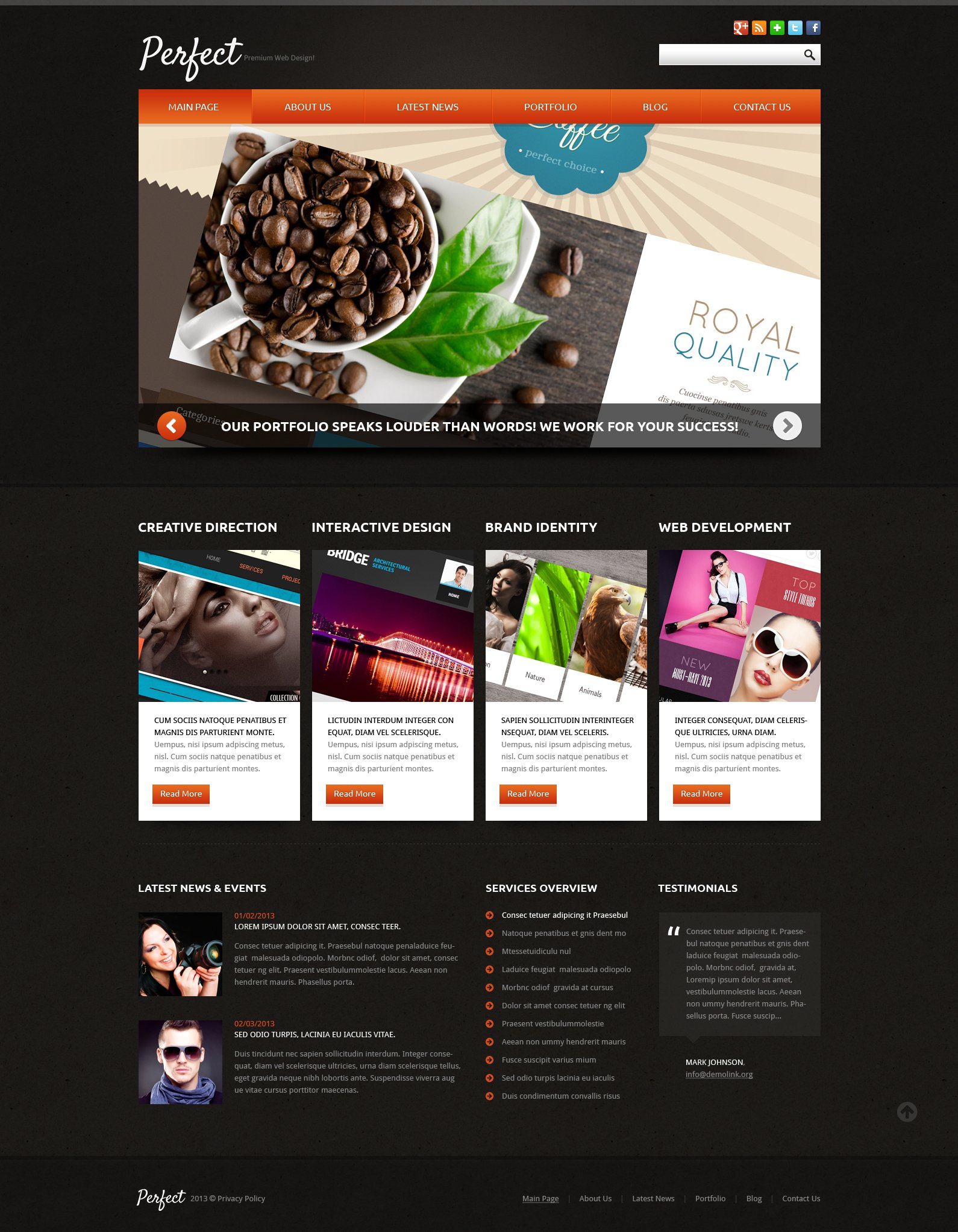 Web Design Responsive Joomla Template - screenshot