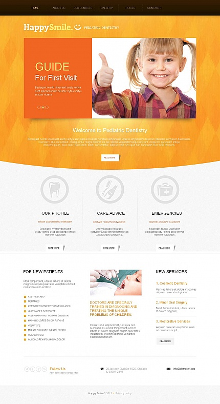 ADOBE Photoshop Template 46205 Home Page Screenshot