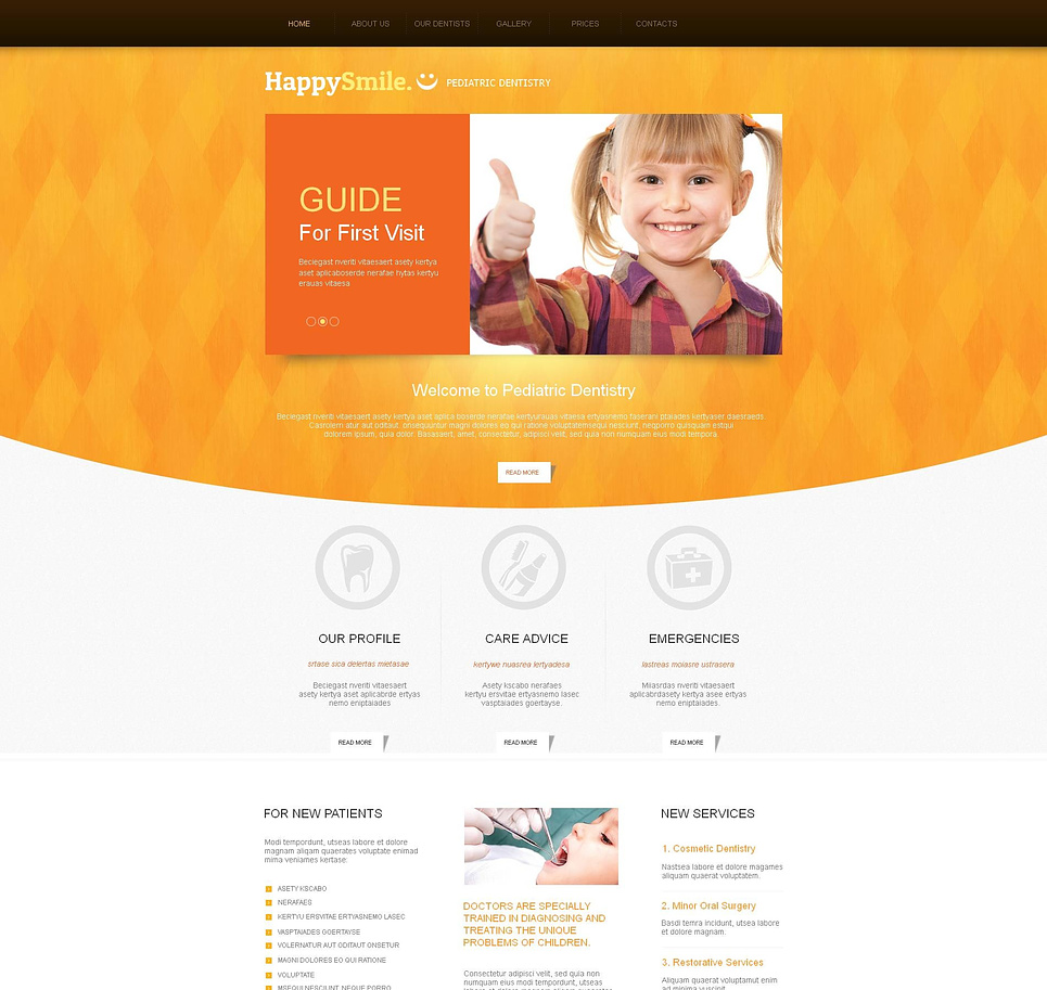 dentistry website template