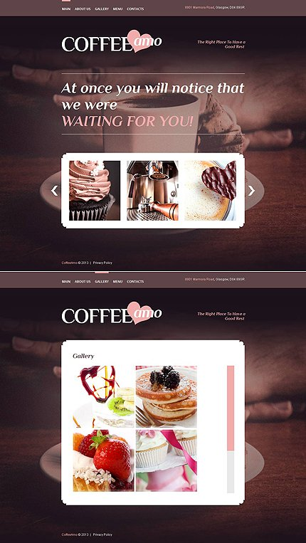 ADOBE Photoshop Template 46208 Home Page Screenshot