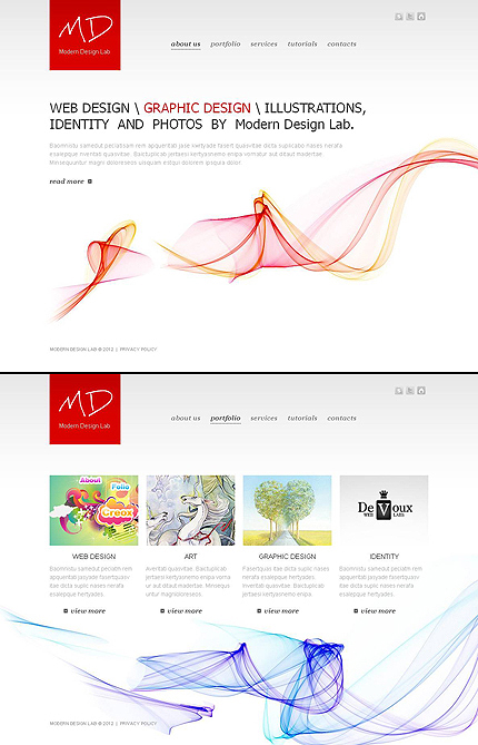 ADOBE Photoshop Template 46211 Home Page Screenshot