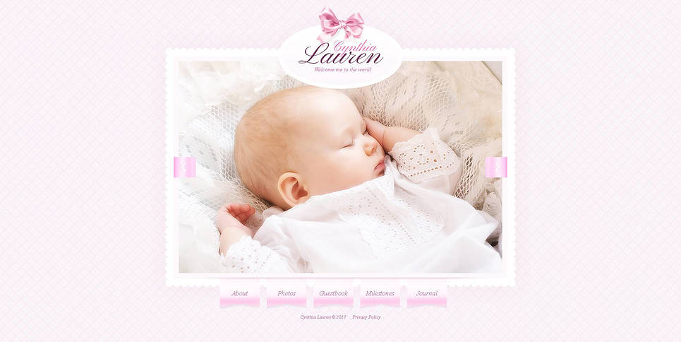 Newborn Website Template with an Amazing Photo Gallery - image