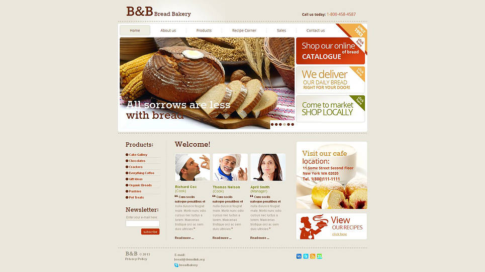 Bakery Website Template with jQuery Slider - image