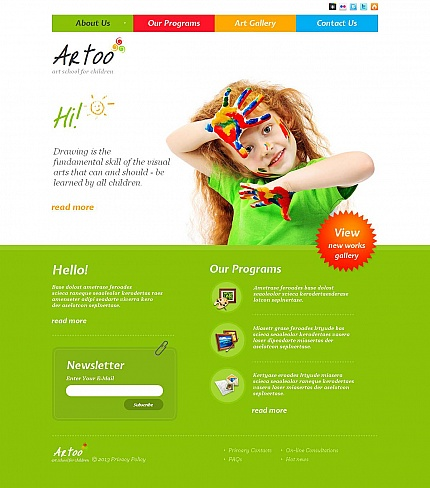 ADOBE Photoshop Template 46215 Home Page Screenshot
