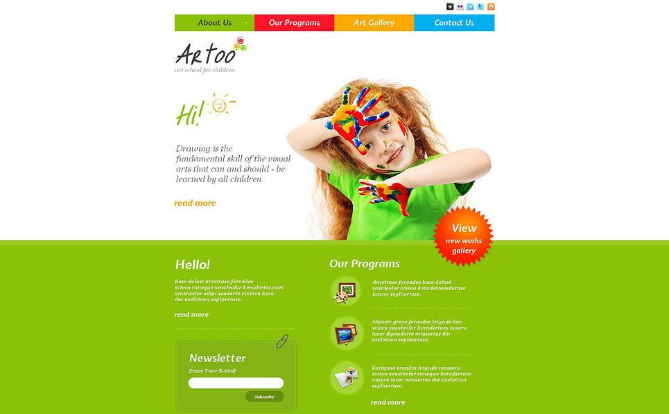 Premium Moto CMS HTML Template over Kunst School New Screenshots BIG