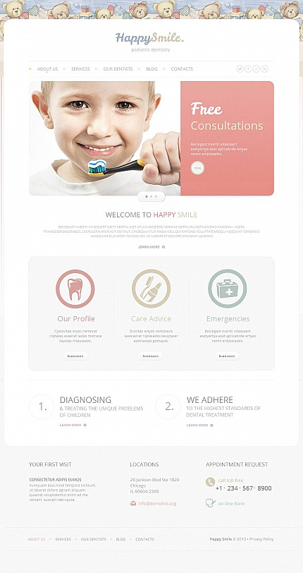 ADOBE Photoshop Template 46219 Home Page Screenshot