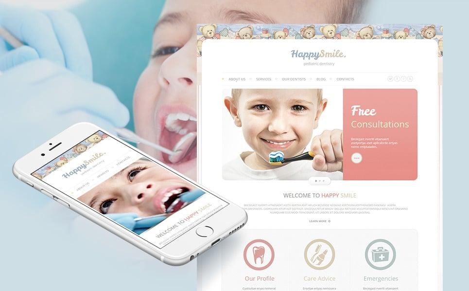 Plantilla Moto CMS HTML #46219 para Sitio de Odontología New Screenshots BIG