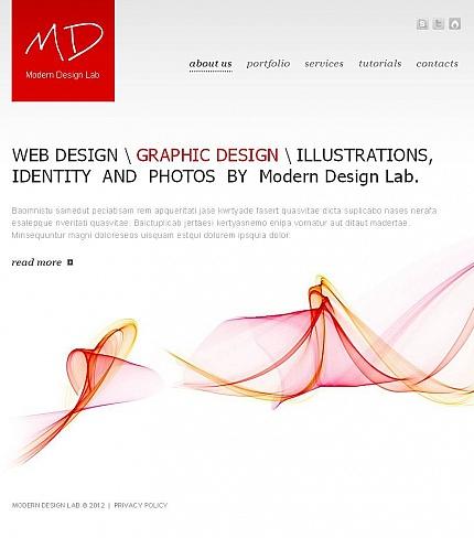 ADOBE Photoshop Template 46226 Home Page Screenshot