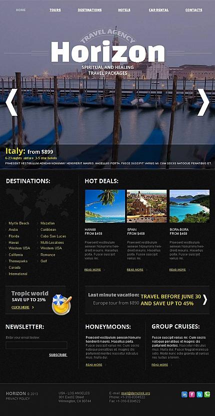 ADOBE Photoshop Template 46229 Home Page Screenshot