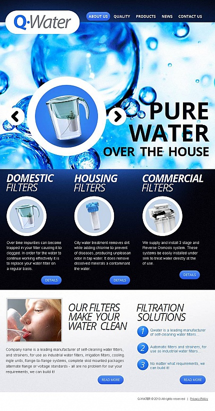ADOBE Photoshop Template 46233 Home Page Screenshot