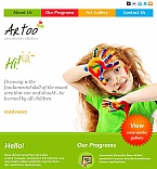 Art & Photography Facebook HTML CMS  Template 46235