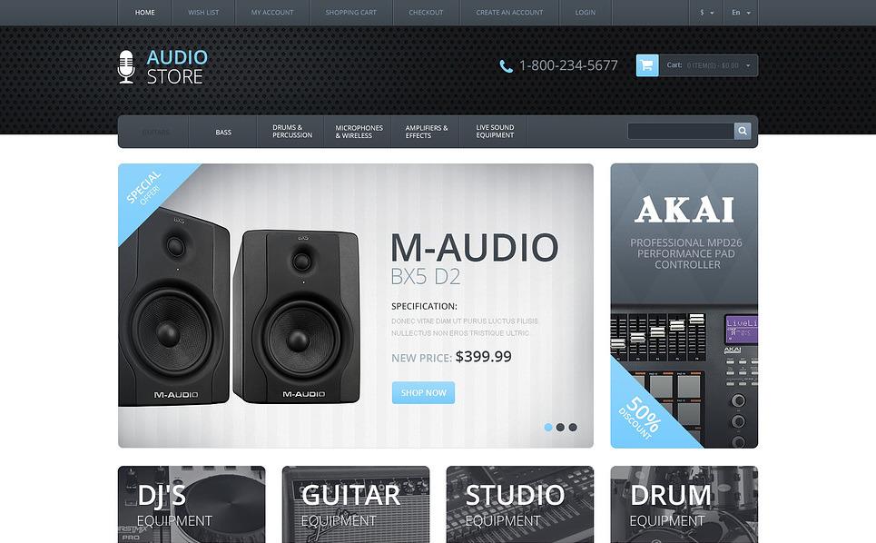 Responzivní OpenCart šablona na téma Audio Obchod New Screenshots BIG