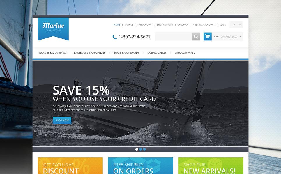 "OpenCart Vorlage namens ""Responsive Segelshop "" New Screenshots BIG"