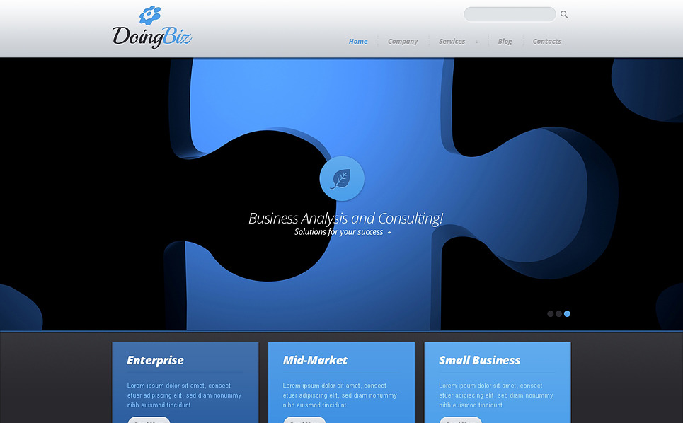 Responsive Website template over Beheermaatschappij  New Screenshots BIG