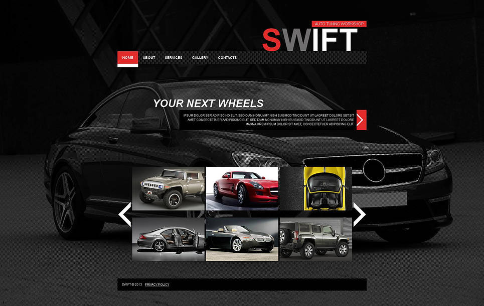 Car Tuning Center Website Template with Grid Gallery - image