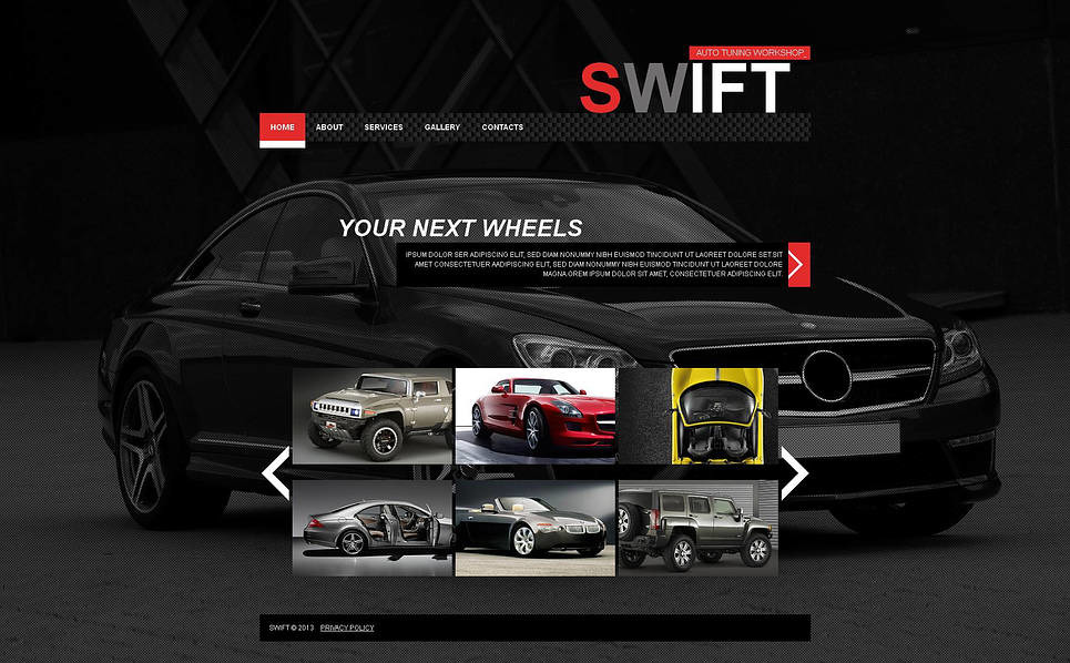 Template Moto CMS HTML para Sites de Tuning №46293 New Screenshots BIG