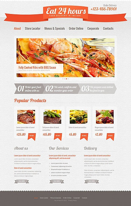 ADOBE Photoshop Template 46294 Home Page Screenshot
