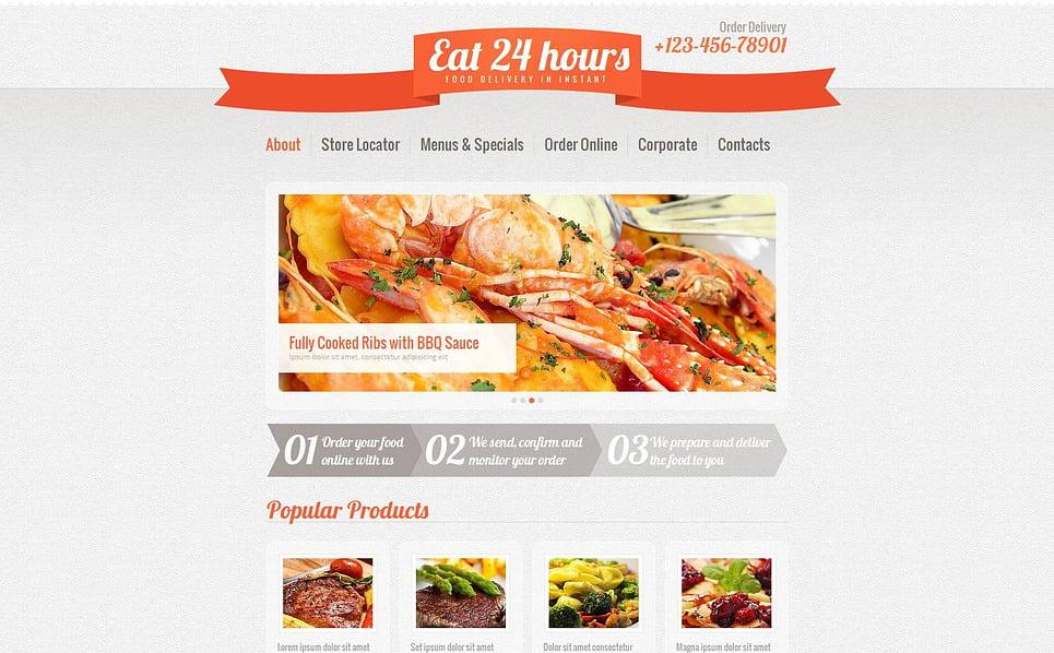 Szablon Moto CMS HTML #46294 na temat: usługi dostawcze New Screenshots BIG