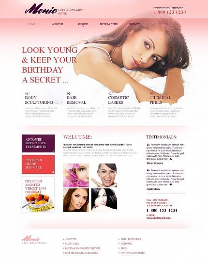 ADOBE Photoshop Template 46295 Home Page Screenshot