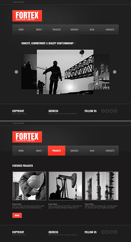 ADOBE Photoshop Template 46297 Home Page Screenshot